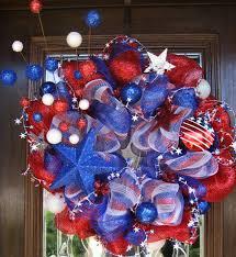 patriotic wreaths for front doorDeco Mesh STARS and STRIPES Patriotic Wreath 9900 via Etsy