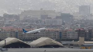 Military aircraft as it attempted to take off from the tarmac at kabul's international airport on monday. Vttatetrl19 4m