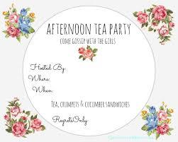Tea Party Free Printables Tea Party Invite Printable Confetti Bliss