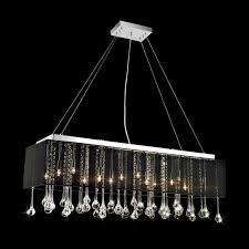 rectangular chandelier with crystals designs