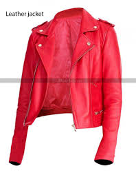 cheryl blossom riverdale red black leather jacket