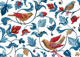 Bird Pattern Best Textile Bird Pattern For Secret Garden Clothes Brand On Behance
