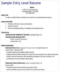 Entry Level Customer Service Resume Fascinating 28 Sample Customer Service Resumes Sample Templates