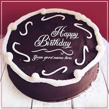 Mix Write Name On Chocolate Birthday Cake Image