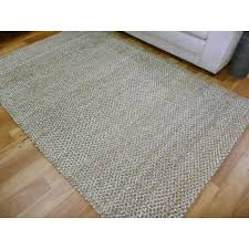 chunky jute braid weave fiber grey natural area rugs runners mat