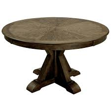 furniture of america kora round trestle dining table in light oak