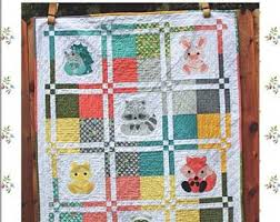 Animal Quilt Patterns Adorable Animal Quilt Pattern Etsy