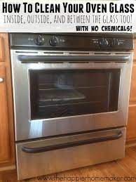 how to clean oven glass clean inside