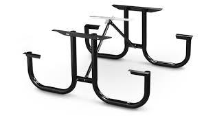 table kit. model pmb-wf | park master picnic table black enamel frame kit i