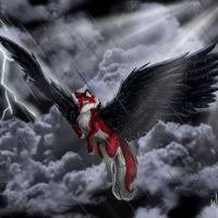 red and black wolf with wings. Unique Red Black Winged Wolf Photo Red U0026amp Black Winged Wolf  Stormy_Weather_by_Psychopomp16jpg In And With Wings O