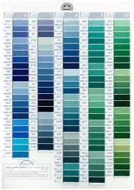 Dmc Stranded Cotton Embroidery Thread Colour Chart