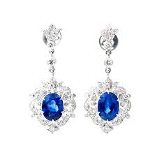royal blue chandelier earrings royal blue sapphire diamond gold dangle earrings royal blue royal blue sapphire