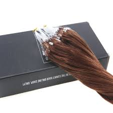 Sunny Hair Design Sunny 16inch 50g Package Loop Micro Ring Hair Extensions Color Dark Auburn 33 Remy Micro Bead