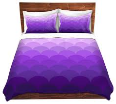 dianoche microfiber duvet covers by organic saturation purple ombre scales contemporary duvet covers