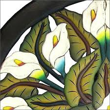 calla lily stained glass lilies window stain lilly by windflower on pattern free