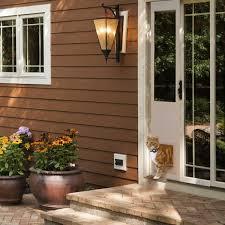 image of sliding glass door pet door automatic
