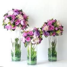 silk hydrangea centerpieces big artificial wedding road led white purple rose hydrangea flowers wedding party centerpiece flower decoration faux