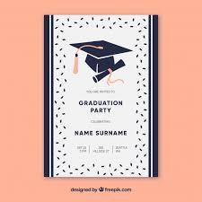 Invitaciones De Graduacion Para Imprimir Invitacion Graduacion Vectores Fotos De Stock Y Psd Gratis