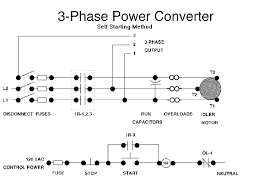 3phconv How To Build Rotary Phase Converter Wiring Diagram a self starting phase converter is simpler and less expensive than the converter shown in figure 1 a self starting schematic is shown below 3 Phase Rotary Converter Plans