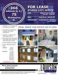 office space for lease flyer toronto office space financial core march 2013