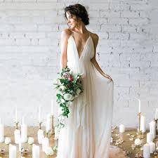 <b>LORIE</b> Simple <b>Boho</b> Wedding Dress <b>Beach</b> 2019 Robe de mariee ...