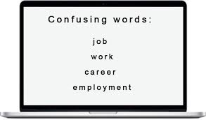 Confusing Words Job Work Career Employment Learn English