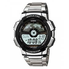 casio ae 1100wd 1a silver stainless watch for men