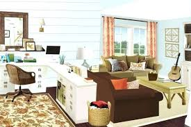 office desk in living room. Living Room Desk Ideas Computer In Or Bedroom Office .