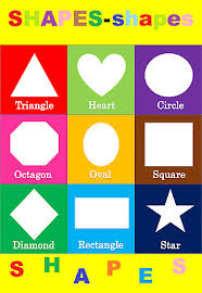 Shapes Chart Basic Shapes Children Kids Educational Poster Chart A4 Size