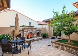 33 stone patio ideas pictures designin backyard stone fireplace