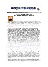 Freemason Organization Chart The United States Presidents And The Illuminati The