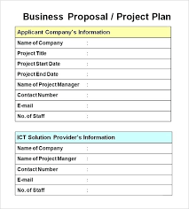 New Project Proposal Template New Business Proposal Template