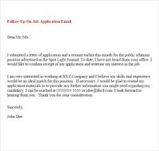 Following Up On Job Application Follow Email Samples Helpful