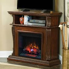 beautiful wood corinth 23 burnished walnut electric fireplace cabinet corner mantel package 23de1447