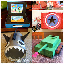 Boy Valentine Box Decorating Ideas Awesome Valentine Card Boxes Boys Will Love Crafty Morning 1