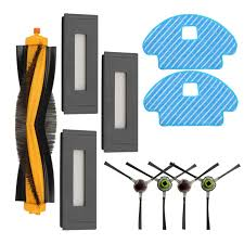 4 x <b>side</b> brush + 3x filter + 1x <b>main brush roller</b> + 2 x mop cloth for ...