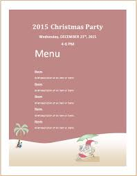Party Menu Template Christmas Party Menu Sheet Template Ms Word Word Excel