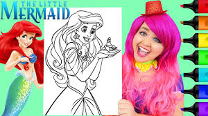 The said channel focuses on discussing the various disney princesses. Coloring Ariel The Little Mermaid Disney Coloring Page Prismacolor Paint Markers Kimmi The Clown Youtube