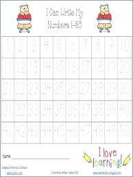 Writing Worksheets Printable Number Tracing 1 Numbers Worksheet ...