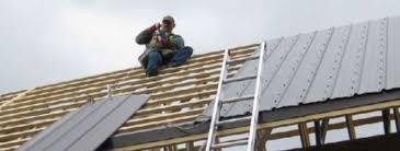 syeel roof on wood battens