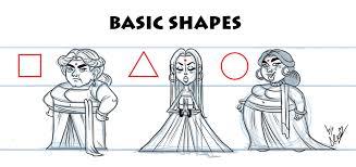Character Design Shapes Artstation Exercise Basic Shapes Eleonora Vittori