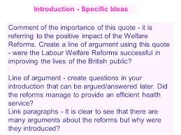 labour welfare reforms essay tips ppt video online  8 introduction specific ideas