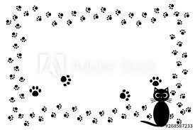 背景イラスト猫の足跡肉球可愛いペットショップ宣伝広告フリー素材