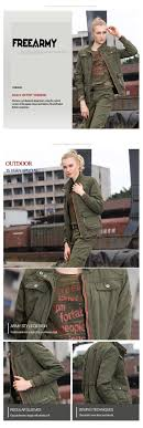 womens military army green jackets winter new sport casual coats british style hot 100 cotton