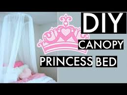 DIY CANOPY BED-PRINCESS BED! & How to Hang - YouTube