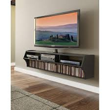 black 60 inch wall mounted a v console altus rc willey furniture