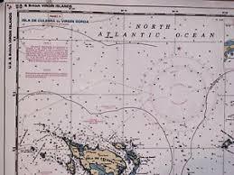 Chart Of Caribbean Islands Details About Caribbean Virgin Islands Sail Boat Fish Chart Map Sea Nautical Marine Noaa 25650