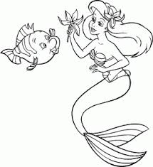 The little mermaid coloring pages (3). The Little Mermaid Free Printable Coloring Pages For Kids