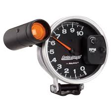 pedestal tachometer rpm shift light black auto gage