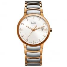 rado ladies and men s watches at berry s jewellers centrix steel rose pvd silver dial mens bracelet watch